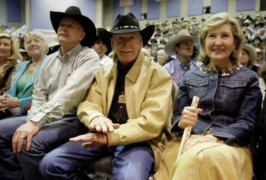 Richard Wallrath founded his educational fund over 40 years ago to emphasize education despite never receiving one. His scholarship fund rewards high school students in 4-H and FFA programs. Photo: Melissa Phillip / Houston Chronicle