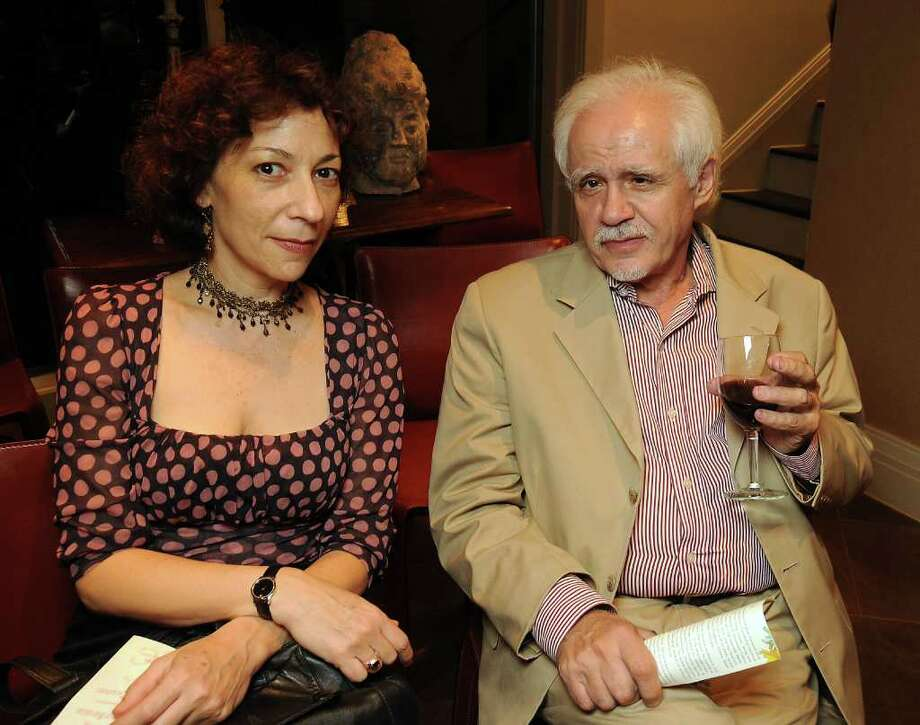 Sarah Rothenberg and Robert Azencott at the Gulf Coast's 25th anniversary celebration honoring Marion Barthelme at the home of Martha and Richard Finger Thursday Oct. 21, 2010. (Dave Rossman/For the Chronicle) Photo: Dave Rossman / Freelance