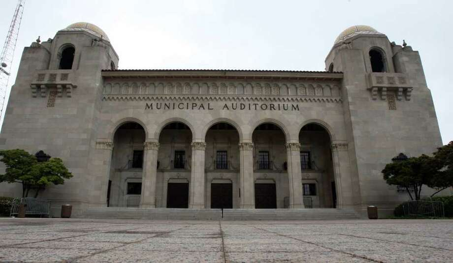 The landmark downtown facility no longer will say Municipal Auditorium on the facade. Photo: San Antonio Express-News File Photo, SAN ANTONIO EXPRESS-NEWS / SAN ANTONIO EXPRESS-NEWS