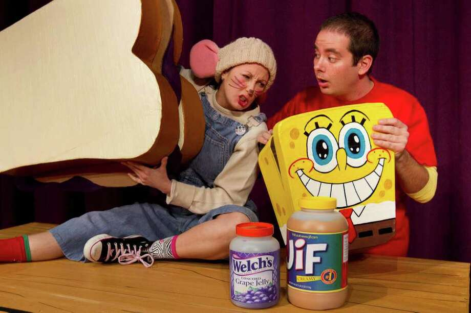 "Becky King (left) and Devin Collins star in Magik Theatre's ""If You Take a Mouse to School.""  Photo: Courtesy, Rasmi Hunt"