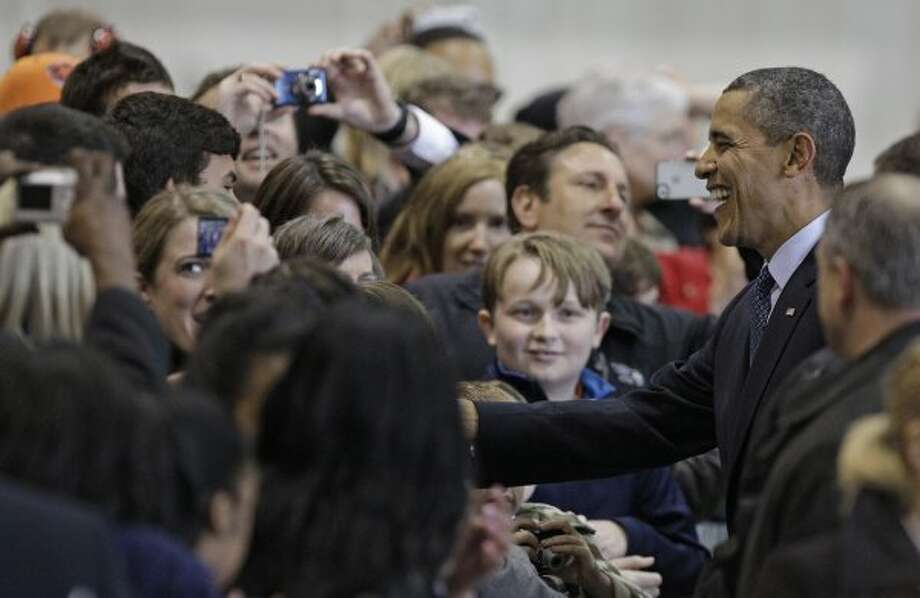 Supporters at Ellington (Melissa Phillip / Houston Chronicle)