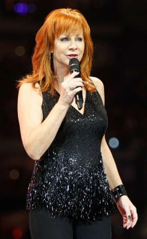Reba McEntire performs at the Houston Livestock Show and Rodeo on March 9. (Mayra Beltran / Houston Chronicle)
