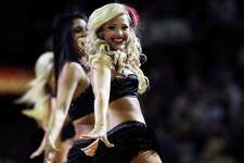The Silver Dancers perform as the San Antonio Spurs host the Los Angeles Clippers at the AT&T Center  on March 9, 2012 Tom Reel/ San Antonio Express-News