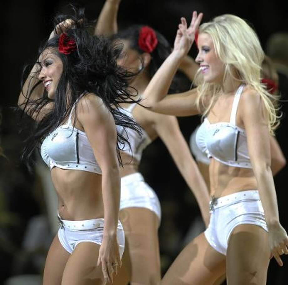 The Silver Dancers perform as the Spurs host the Los Angeles Clippers at the AT&T Center  on March 9, 2012 Tom Reel/ San Antonio Express-News (TOM REEL / San Antonio Express-News)