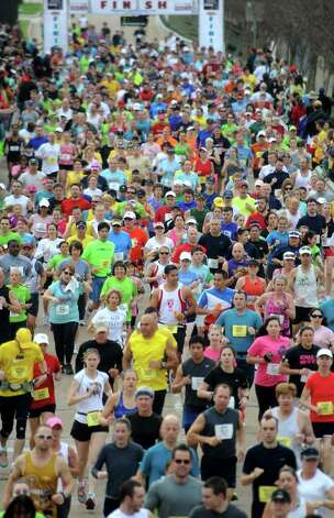 Thousands of people participated during the Gusher 5K, Half Marathon and Marathon in Beaumont, Saturday. Tammy McKinley/The Enterprise Photo: TAMMY MCKINLEY / Beaumont