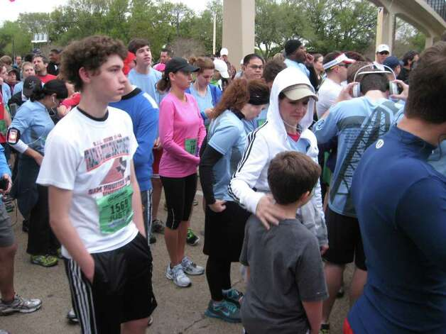 Participants and fans from the 2012 Gusher Marathon, Half Marathon and 5K. March 10, 2012. Amy Moore/The Enterprise Photo: The Enterprise