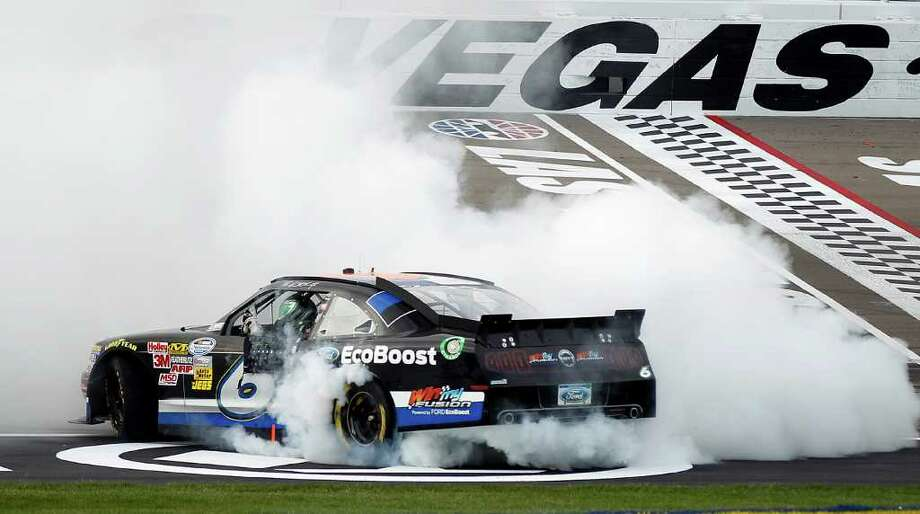 Ricky Stenhouse's Nationwide win was the first by a non-Sprint Cup driver in Las Vegas. Photo: AP