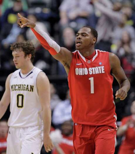 Ohio State's Deshaun Thomas heads back downcourt during his 22-point performance. Photo: AP