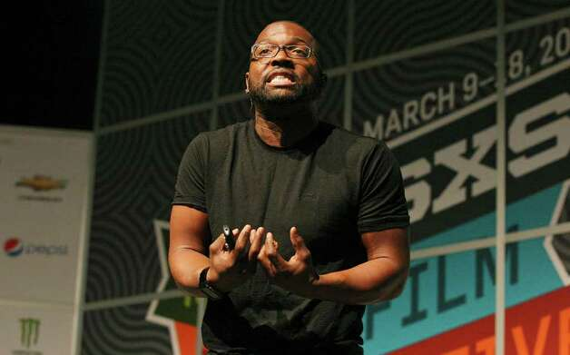 FOR METRO - Baratunde Thurston speaks during South by Southwest Saturday March 10,  2012 at the Austin Convention Center in Austin, TX. Photo: EDWARD A. ORNELAS, SAN ANTONIO EXPRESS-NEWS / © SAN ANTONIO EXPRESS-NEWS (NFS)