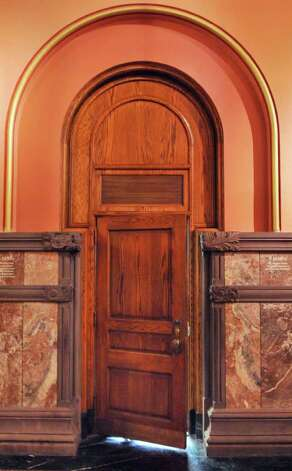 One of the doors into the Governor's offices at the Capitol in Albany Wednesday March 7, 2012.   (John Carl D'Annibale / Times Union) Photo: John Carl D'Annibale