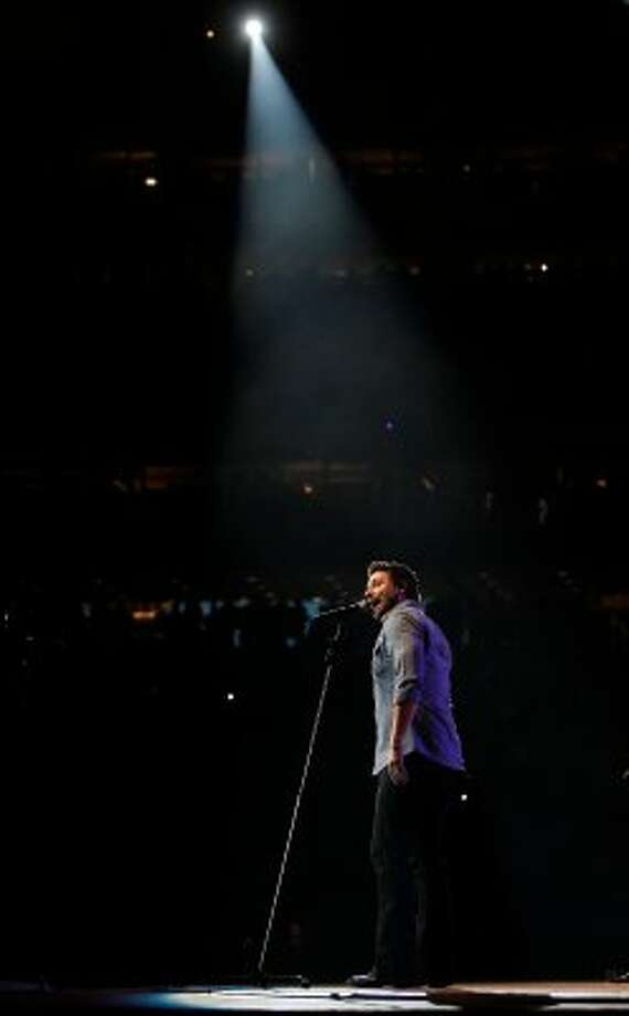 Chris Young performs during the Houston Livestock Show and Rodeo on March 10. (Mayra Beltran / Houston Chronicle)