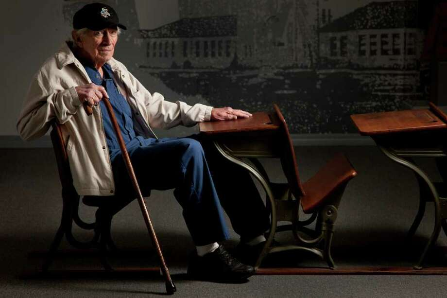 Bill Thompson, seen inside the London Museum, was in class on March 18, 1937, when natural gas in a crawl space under his school was accidentally ignited. The blast remains the deadliest such disaster in U.S. history. Photo: Smiley N. Pool / © 2012  Houston Chronicle