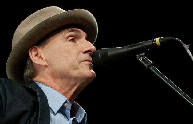 American singer James Taylor performs prior to a speech by US President Barack Obama at a rally for Democratic Governor Deval Patrick of Massachusetts at the Hynes Convention Center in Boston, Massachusetts, October 16, 2010. AFP PHOTO / Saul LOEB (Photo credit should read SAUL LOEB/AFP/Getty Images) Photo: SAUL LOEB / AFP