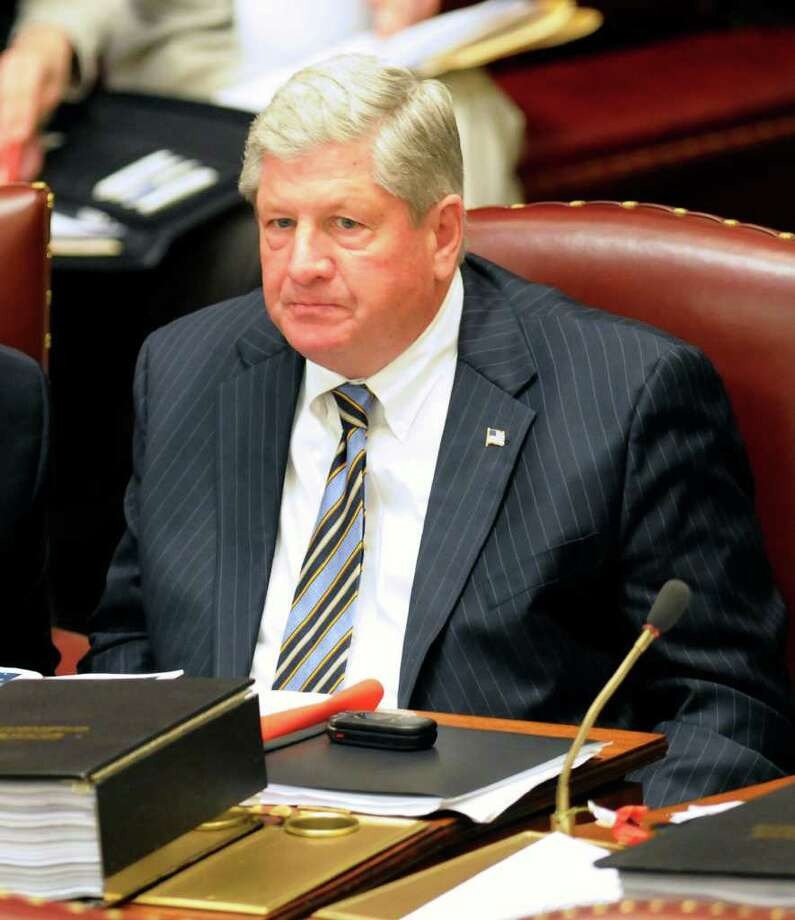 Sen. Roy J. McDonald, R- Stillwater, during a session of the New York state Senate at the Capitol in Albany, N.Y., Tuesday, June 14, 2011. (AP Photo/Hans Pennink) Photo: Hans Pennink / FRE58980 AP