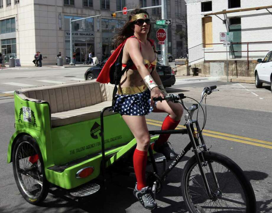 You don't need a car or a cab to get around downtown Austin during SXSW. Photo: EDWARD A. ORNELAS, SAN ANTONIO EXPRESS-NEWS / © SAN ANTONIO EXPRESS-NEWS (NFS)