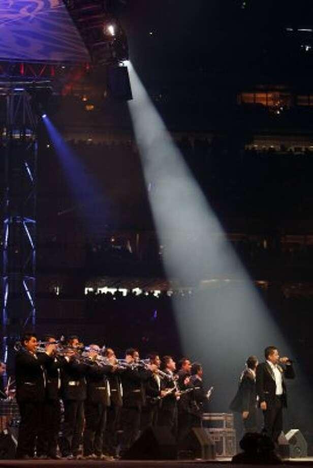 La Original Banda El Limon performs at RodeoHouston on March 11. (James Nielsen / Chronicle)