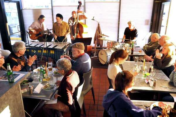 The Arthur Lipner Quartet plays at Pizzeria Lauretano Sunday, March 11, 2012. The Bethel pizzeria has jazz concerts, drawing a full house weekly.