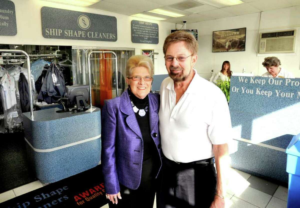 Roberta and Paul Bagley stand in their Brookfield business Ship Shape Cleaners Monday, March 12, 2012.