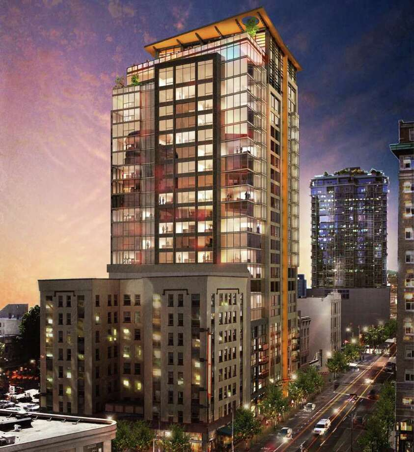 An artist's depiction of the planned Viktoria Apartments. Photo: Weber Thompson And Studio 216