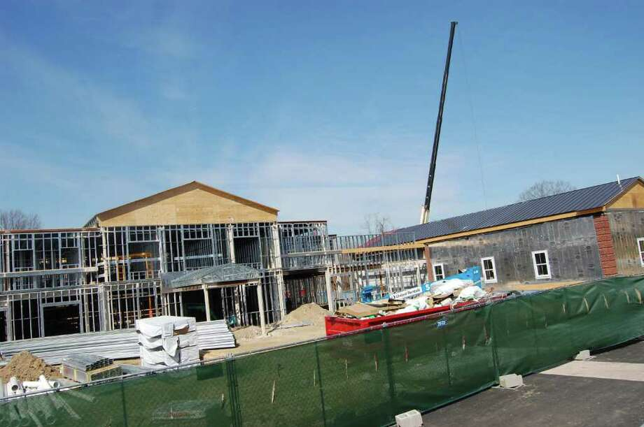 Maplewood at Strawberry Hill in Norwalk, an assisted living project that broke ground last September, is well underway. It is scheduled to open this summer and model units are now open to the public. Photo: Nicole Rivard/Staff Photographer