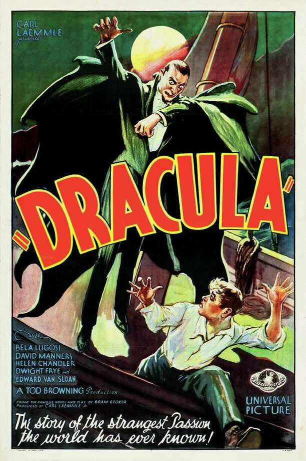 This February 2012 photo provided by Heritage Auctions in Dallas shows a movie poster for the 1931 poster for ?Dracula? starring Bela Lugosi. This and other rare classic movie theater posters found in a northeastern Pennsylvania attic are scheduled to go to auction March 23. (AP Photo/Heritage Auctions) Photo: HOEP / Heritage Auctions