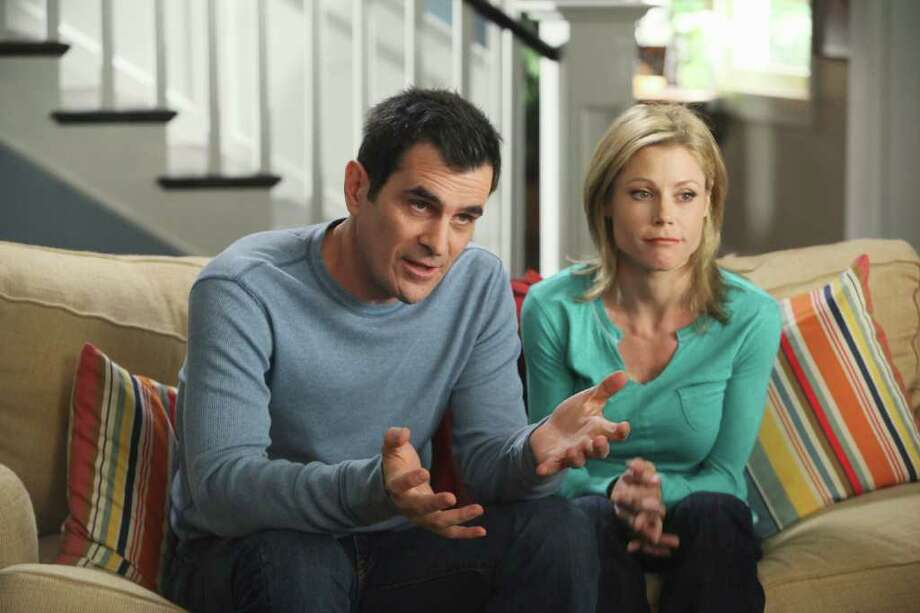 """When viewers who don't watch TV shows live are factored into the ratings equation, """"Modern Family,' starring Ty Burrell and Julie Brown, becomes the most-watched show. Photo: Danny Feld, ABC / American Broadcasting Companies,"""