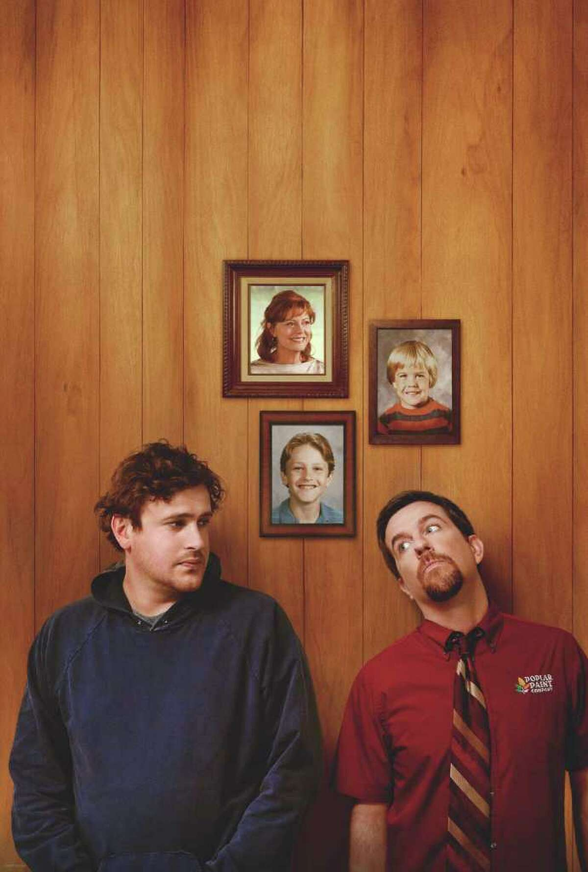 Segel, left, co-stars with Ed Helms as his obnoxious brother, Pat, in