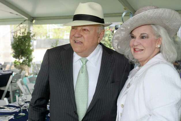 Bob and Donna Bruni at the Hats in the Park luncheon benefitting the Hermann Park Conservancy. Photo: Gary Fountain / Copyright 2012 Gary Fountain.