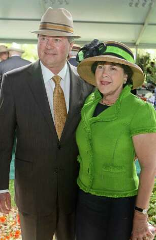 Ernest and Janet Cockrell at the Hats in the Park luncheon benefitting the Hermann Park Conservancy. Photo: Gary Fountain / Copyright 2012 Gary Fountain.
