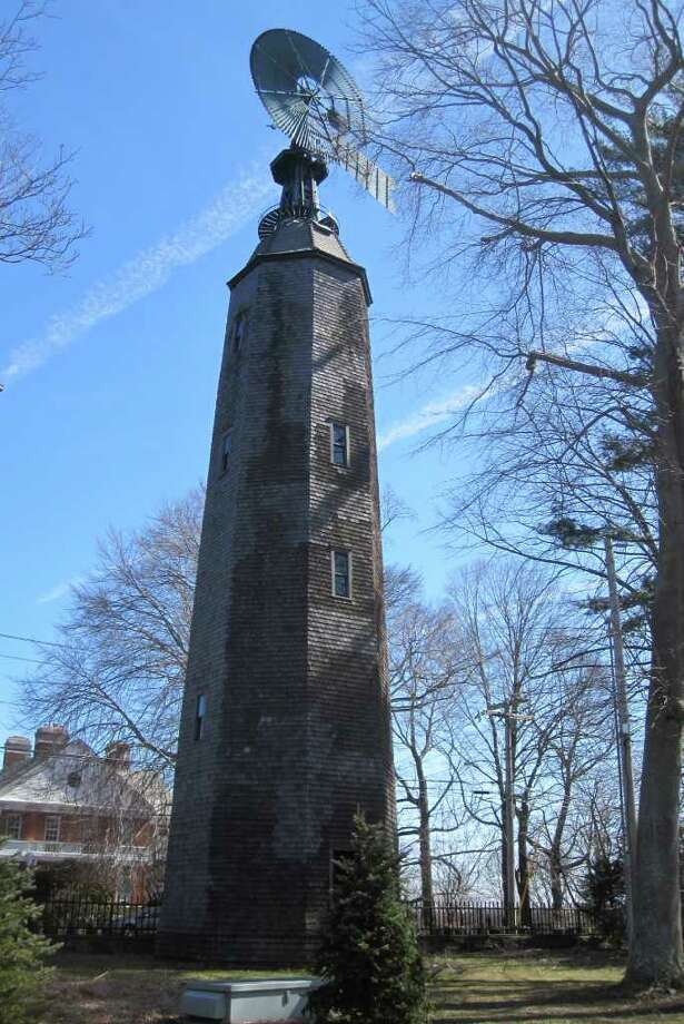 Not a myth but easy to miss, the tall windmill was built in the late 19th century to pump water for Frederic Bronson's 42-room mansion in Greenfield Hill. Photo: File Photo