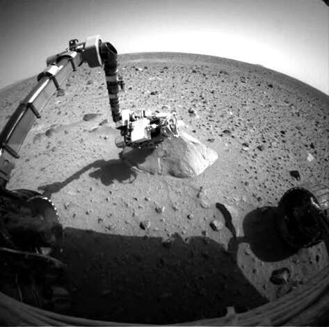 NASA's Mars Exploration Rover Spirit in 2004. The mysteries of Mars are likely to remain mysteries as funding is being canceled. Photo: Associated Press File Photo, NASA