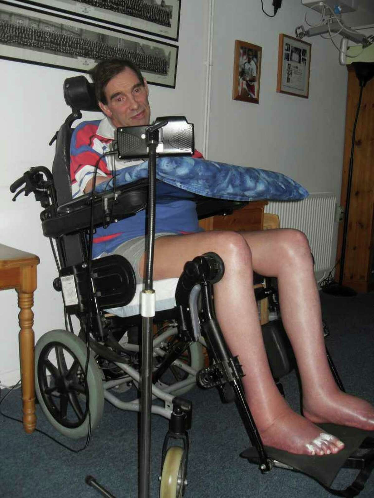 Tony Nicklinson, shown in this photo released in January, was left paralyzed by a stroke in 2005.