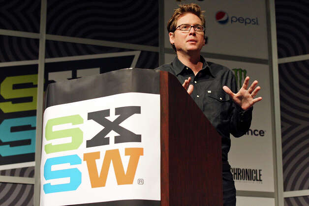FOR METRO - Twitter co-founder Biz Stone speaks during South by Southwest Monday March 12, 2012 at the Austin Convention Center in Austin, TX. Photo: EDWARD A. ORNELAS, SAN ANTONIO EXPRESS-NEWS / © SAN ANTONIO EXPRESS-NEWS (NFS)