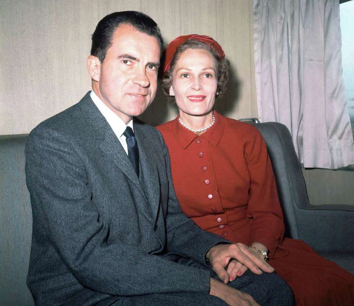 Richard Nixon and his wife Pat are photographed together while campaigning in New York in 1960. Friday would have been Pat Nixon's 100 birthday.
