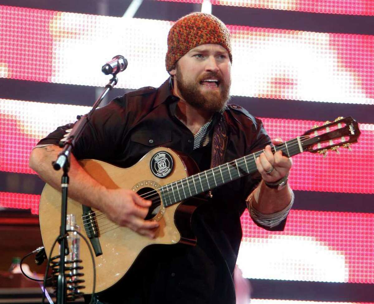 Zac Brown with the Zac Brown Band performs in concert at the Houston Livestock Show and Rodeo at Reliant Park on Monday before 73,374 fans.