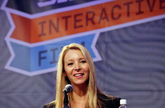 "Actress Lisa Kudrow speaks during the panel discussion ""WebOriginals: Television's New Guinea Pigs"" with Brian Terkelsen, Marc DeBevoise and Ryan Lawler (not pictured) part of South by Southwest Monday, March 12, 2012 at the Austin Convention Center in Austin. Photo: EDWARD A. ORNELAS, San Antonio Express-News / © SAN ANTONIO EXPRESS-NEWS (NFS)"