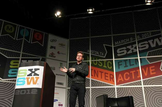 Twitter co-founder Biz Stone speaks during South by Southwest Monday, March 12, 2012 at the Austin Convention Center in Austin. Photo: EDWARD A. ORNELAS, San Antonio Express-News / © SAN ANTONIO EXPRESS-NEWS (NFS)