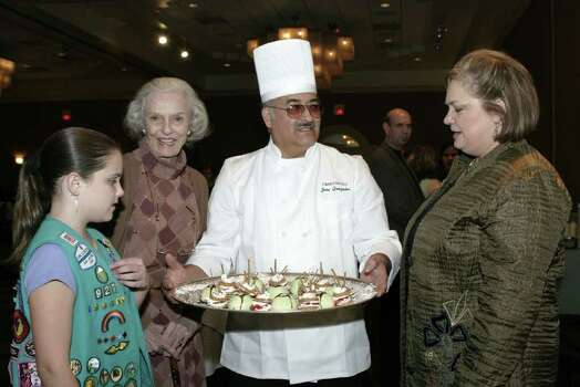 Virginia Ballen (Troop 927 participant), Ruth Bowman Bowers (supporter), Jose Gonzales (Omni Hotel pastry chef) and Sharon Jones Schweitzer (Girl Scouts of S.A. chair of board) were at the Omni Hotel on Jan. 25, 2007, for the Girl Scouts of S.A. Cookie Concoction event. Photo: LELAND A. OUTZ, Express-News File Photo / SAN ANTONIO EXPRESS-NEWS