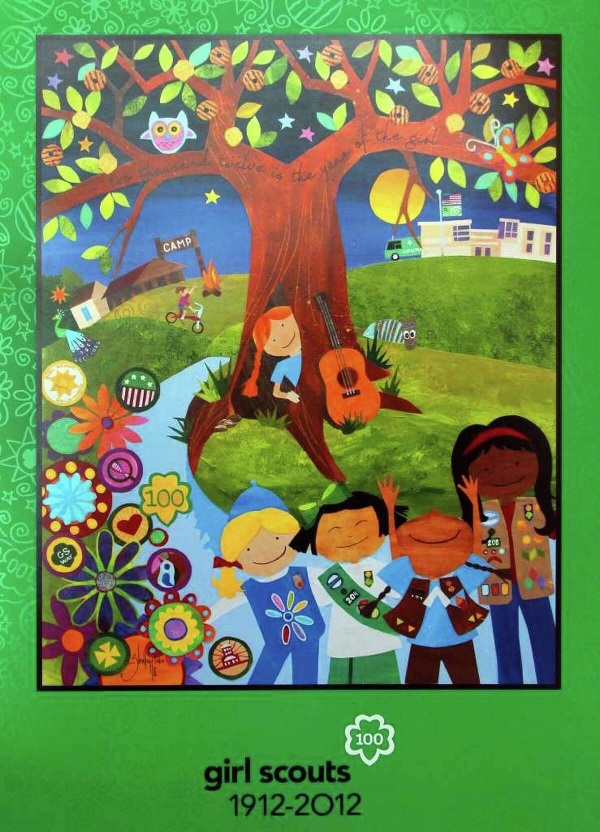 Shelley Fluke, a four-time Fiesta San Antonio poster artist, has created the Girls Scouts' anniversary poster.