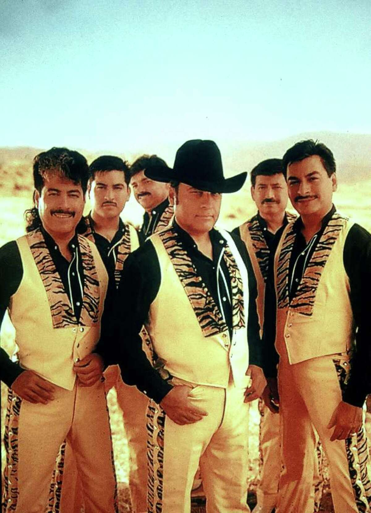 The Tigres del Norte band pose in this 2002 handout photo in northern Mexico. The group, which drew fire in the past for songs about drug traffickers, is now mocking President Vicente Fox.