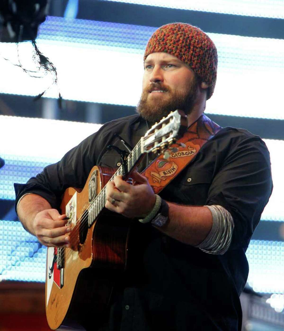 Zac Brown with the Zac Brown Band performs in concert at the Houston Livestock Show and Rodeo at Reliant Park Monday, March 12, 2012, in Houston.