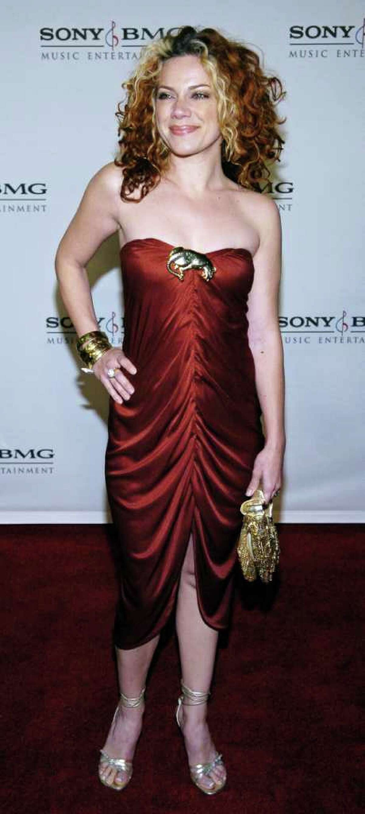 Singer Nikka Costa arrives for the Sony BMG Grammy Party in Los Angeles February 8, 2006. REUTERS/Chris Pizzello