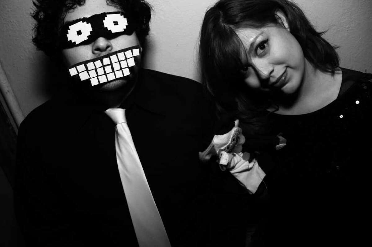 Vincent Reyna and Val Tapia perform as the electropop duo Bleep Attack!