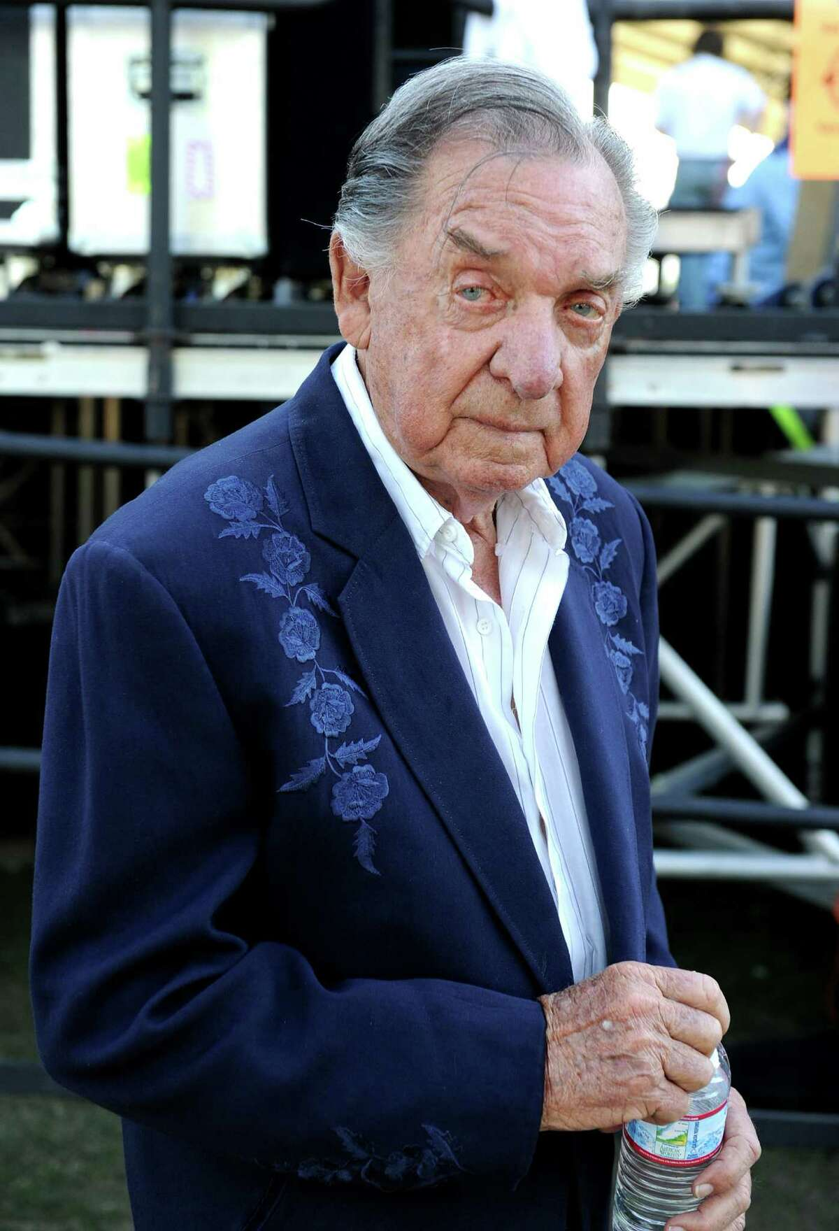 Musician Ray Price poses backstage during day 1 of Stagecoach: California's Country Music Festival 2010 held at The Empire Polo Club on April 24, 2010 in Indio, California.