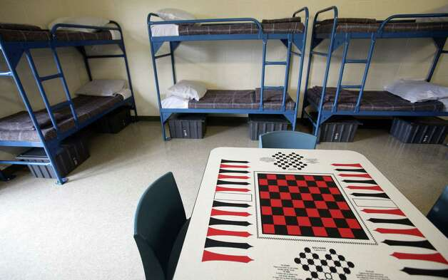 "Karnes City detainees will be housed in ""dorms"" or ""suites"" of eight people apiece. Each unit has a television and a bathroom. Photo: Bob Owen, San Antonio Express-News / © 2012 San Antonio Express-News"