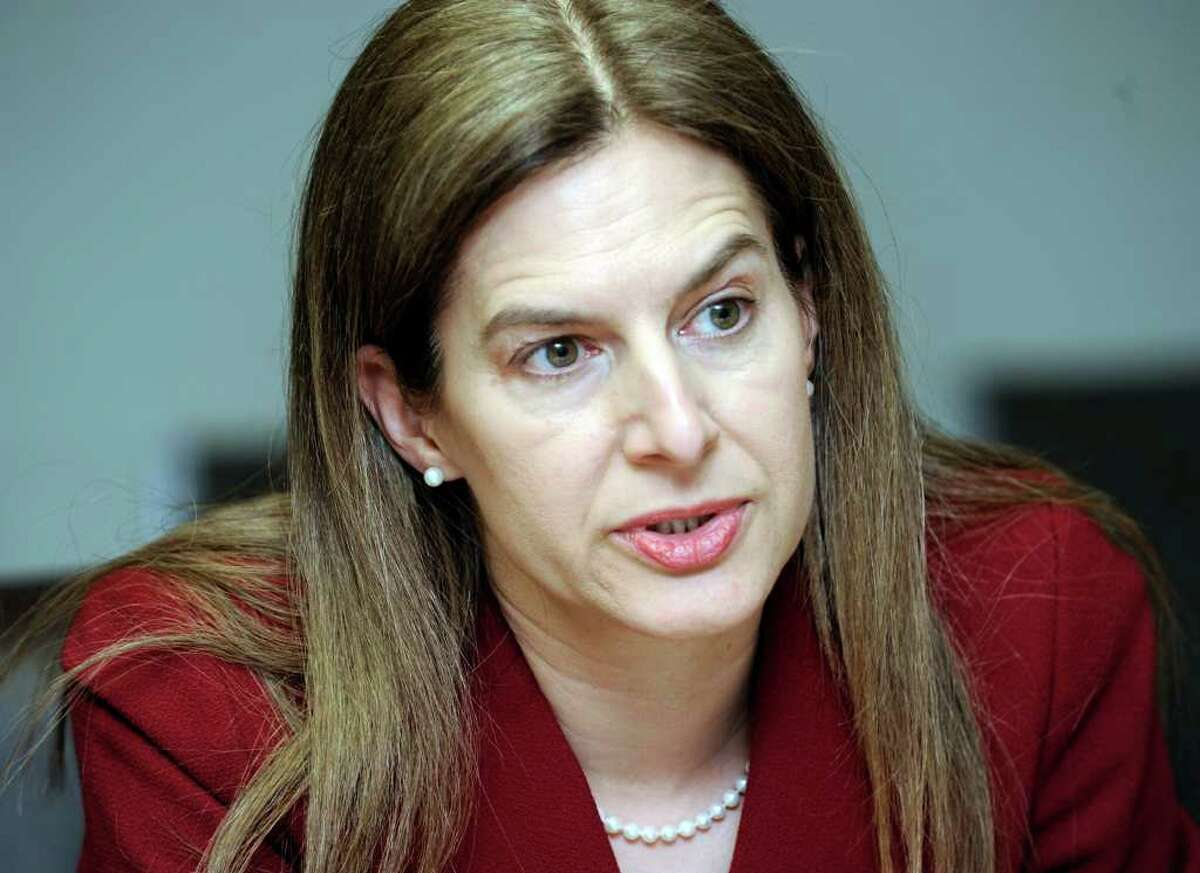 Susan Bysiewicz, former Connecticut Secretary of the State, is battling Congressman Chris Murphy and others for the Democratic nomination in the U.S. Senate race. She met with The News-Times editorial board, Tuesday, March 13, 2012.