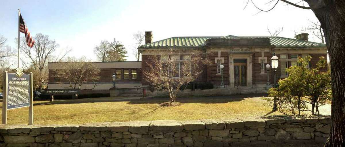 The Ridgefield Public Library is shown here on Saturday, March 10, 2012.