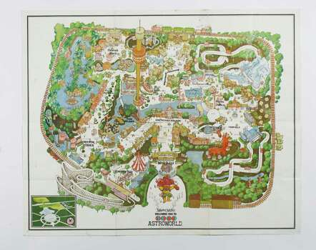 David Purdie's (cq), 1972 map of Astroworld. ( Nick de la Torre / Chronicle ) Photo: Nick De La Torre / Houston Chronicle
