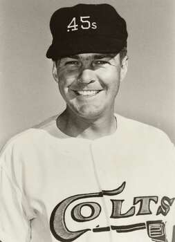In this 1963 photo provided by the Houston Colt .45s, pitcher Hal Woodeshick poses for a photo, location not known. Woodeshick, who pitched for the expansion Colt .45s during an 11-year career in which he was an All-Star and part of a World Series championship team, died Sunday, June 14, 2009, in Houston, the Astros said. He was 76. (AP Photo/Houston Colt .45s) ** NO SALES ** / Houston Colt .45s