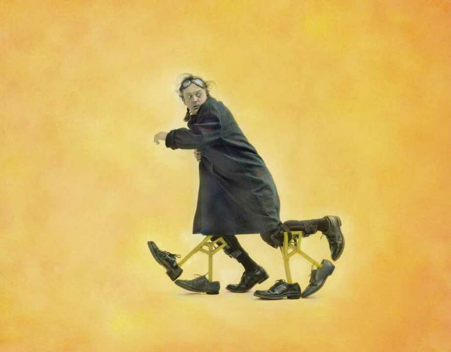 Self-proclaimed 'certified lunatic and master of the impossible,' Tomas Kubinek will bring his unusual one-man show to the Performing Arts Center at Purchase College, Purchase, N.Y., at 3 p.m., Sunday, March 18. For information on tickets, call 914-251-6200 or visit www.artscenter.org. Photo: Contributed Photo